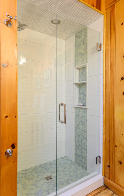 Updated shower enclosure for the cozy cabin update