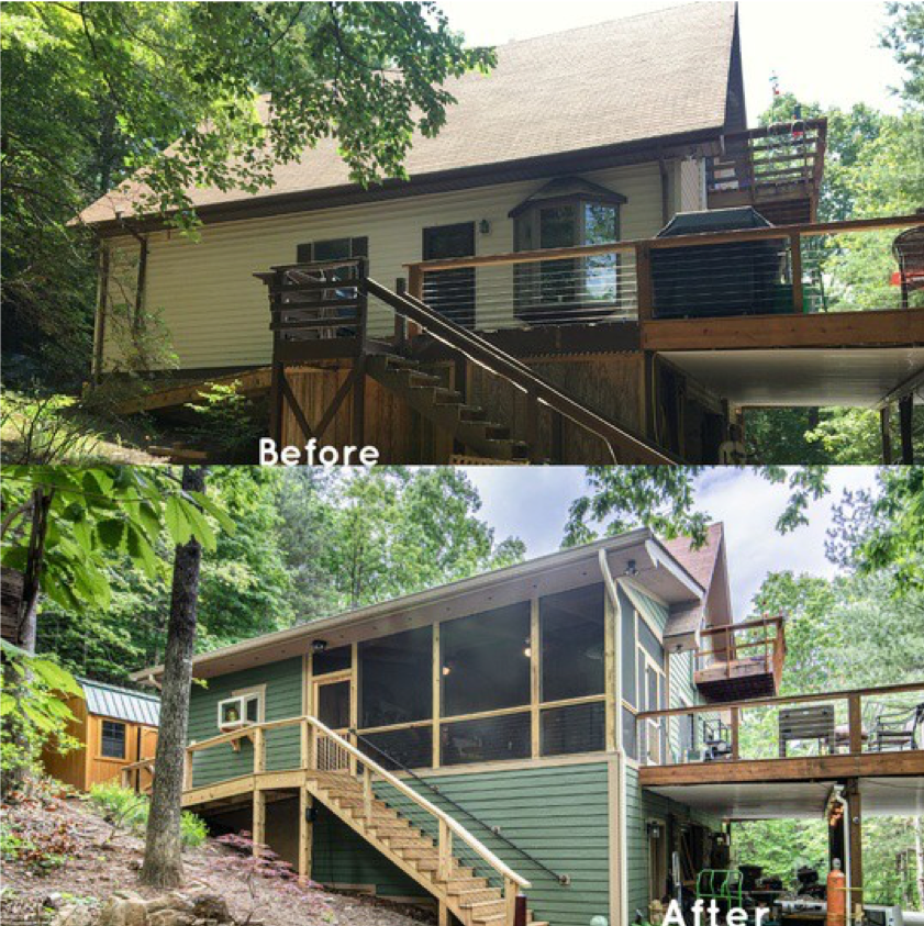 Before & After pictures of the Hi-Vu Addition