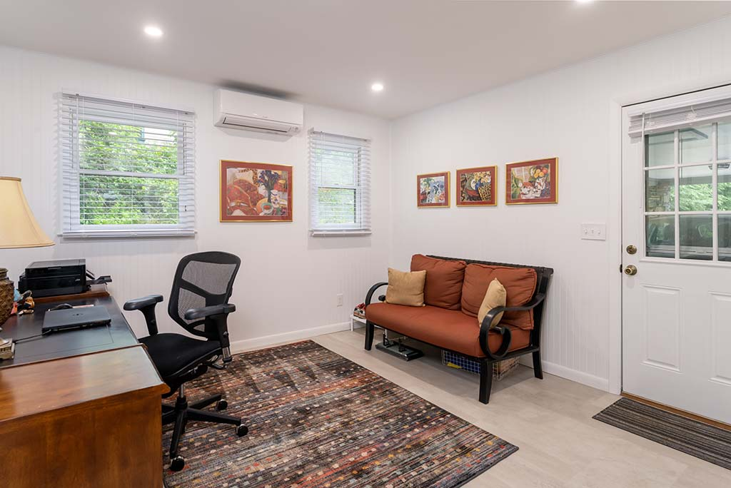 Large in-house office makes working from home much easier.