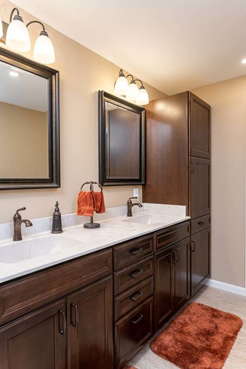 Double sink vanity with plenty of storage